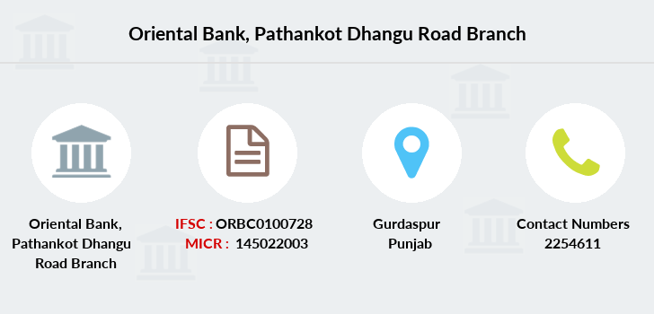 Oriental-bank-of-commerce Pathankot-dhangu-road branch
