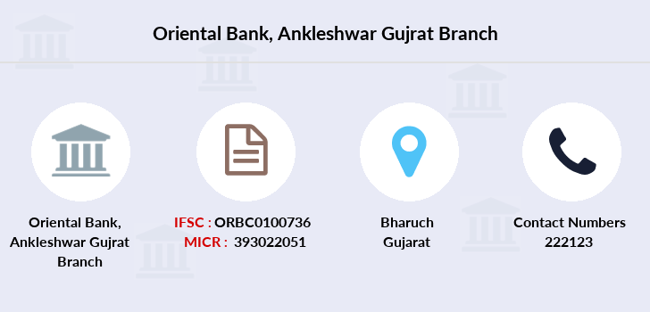 Oriental-bank-of-commerce Ankleshwar-gujrat branch