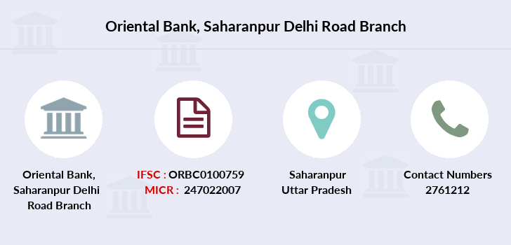 Oriental-bank-of-commerce Saharanpur-delhi-road branch