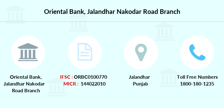 Oriental-bank-of-commerce Jalandhar-nakodar-road branch