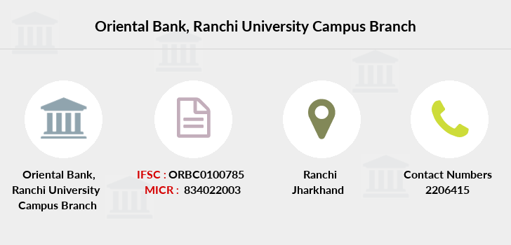 Oriental-bank-of-commerce Ranchi-university-campus branch