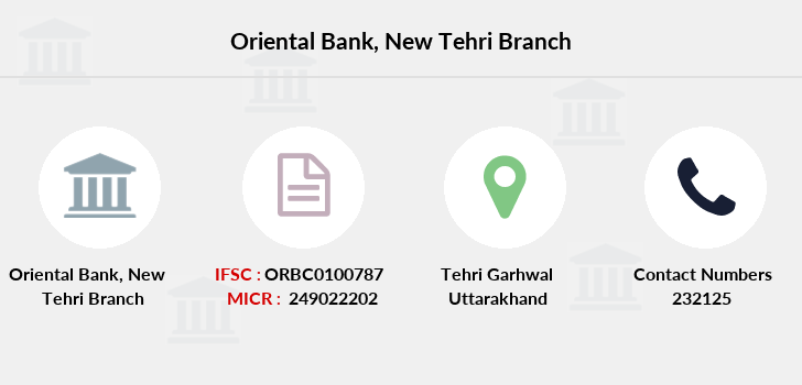 Oriental-bank-of-commerce New-tehri branch
