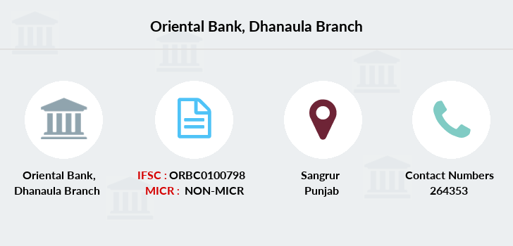 Oriental-bank-of-commerce Dhanaula branch