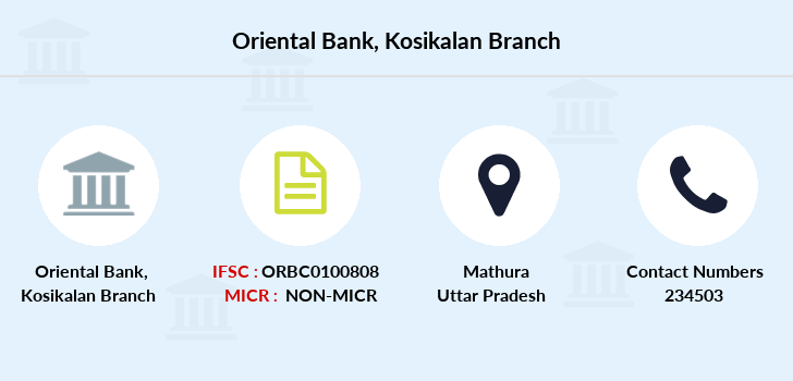 Oriental-bank-of-commerce Kosikalan branch