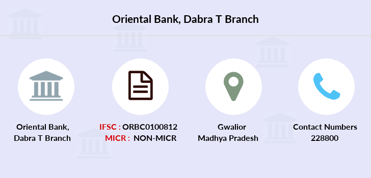 Oriental-bank-of-commerce Dabra-district-gwalior branch
