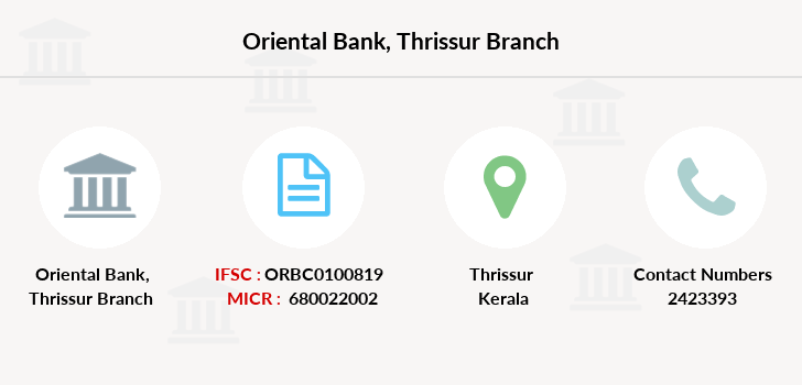 Oriental-bank-of-commerce Thrissur branch