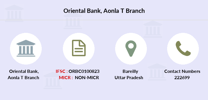 Oriental-bank-of-commerce Aonla-district-bareilly branch