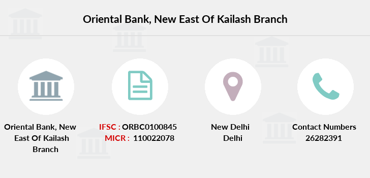 Oriental-bank-of-commerce New-east-of-kailash branch