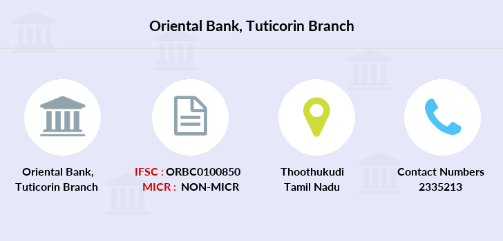 Oriental-bank-of-commerce Tuticorin branch