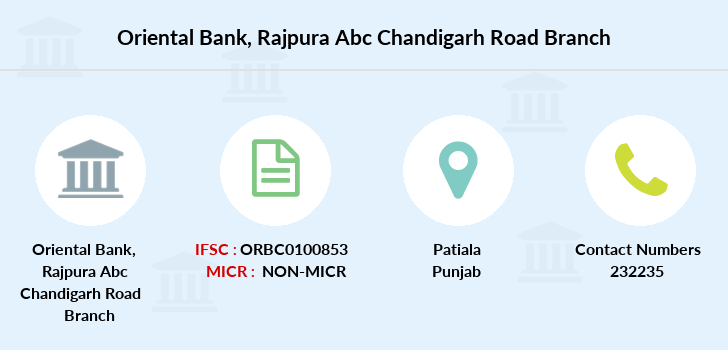 Oriental-bank-of-commerce Rajpura-abc-chandigarh-road branch