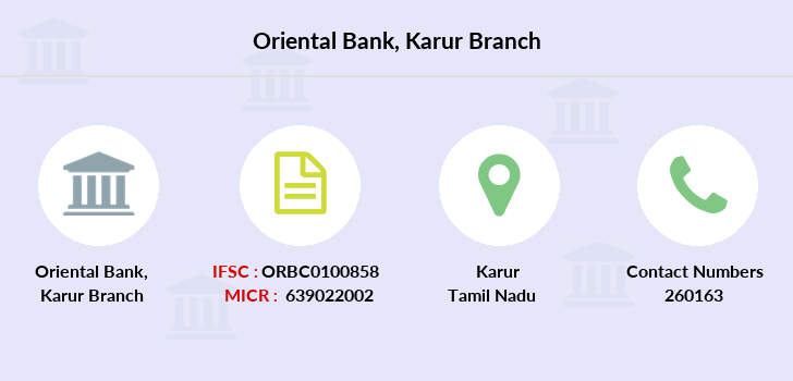 Oriental-bank-of-commerce Karur branch