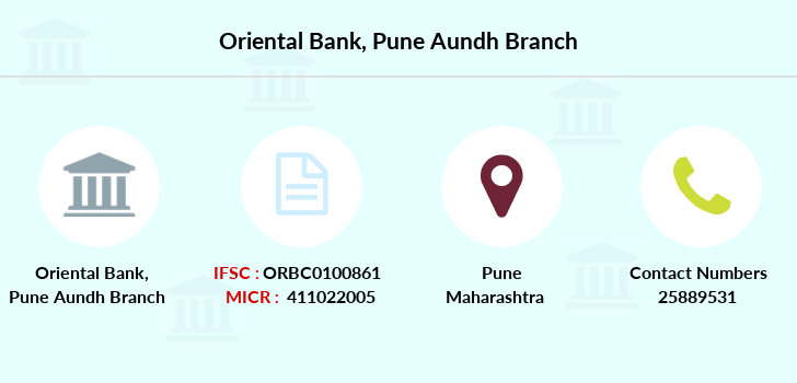 Oriental-bank-of-commerce Pune-aundh branch