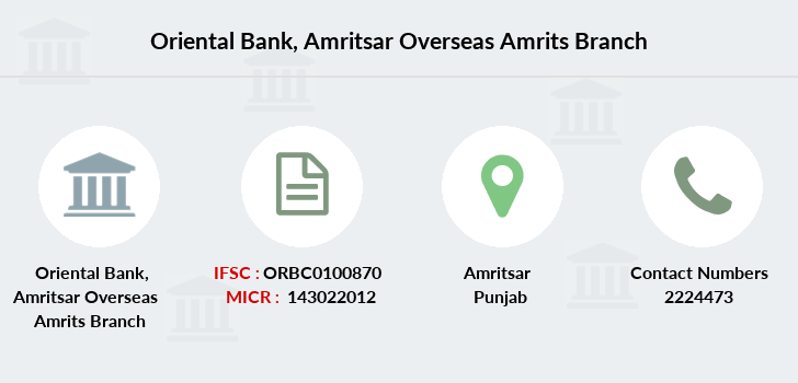 Oriental-bank-of-commerce Amritsar-overseas-amrits branch
