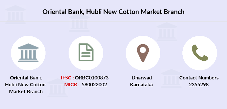 Oriental-bank-of-commerce Hubli-new-cotton-market branch
