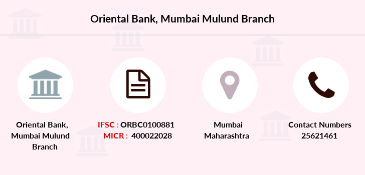 Oriental-bank-of-commerce Mumbai-mulund branch