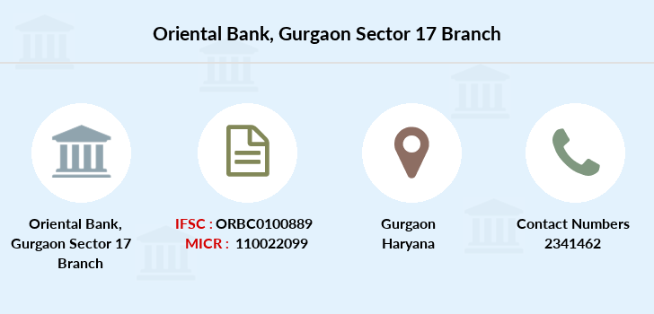 Oriental-bank-of-commerce Gurgaon-sector-17 branch