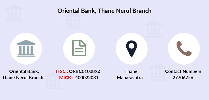 Oriental-bank-of-commerce Thane-nerul branch