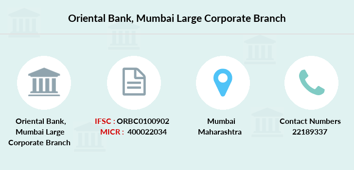 Oriental-bank-of-commerce Mumbai-large-corporate branch