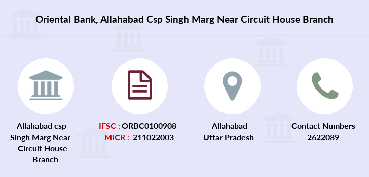 Oriental-bank-of-commerce Allahabad-csp-singh-marg-near-circuit-house branch