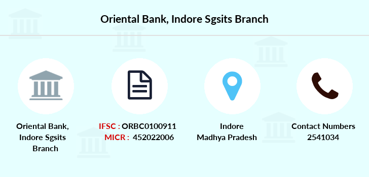 Oriental-bank-of-commerce Indore-sgsits branch