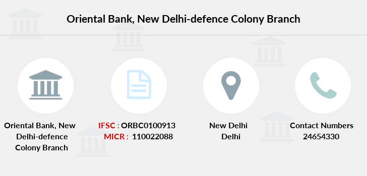 Oriental-bank-of-commerce New-delhi-defence-colony branch