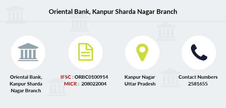 Oriental-bank-of-commerce Kanpur-sharda-nagar branch