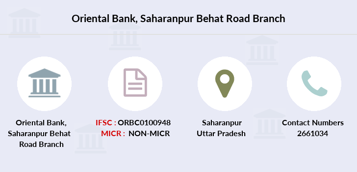 Oriental-bank-of-commerce Saharanpur-behat-road branch