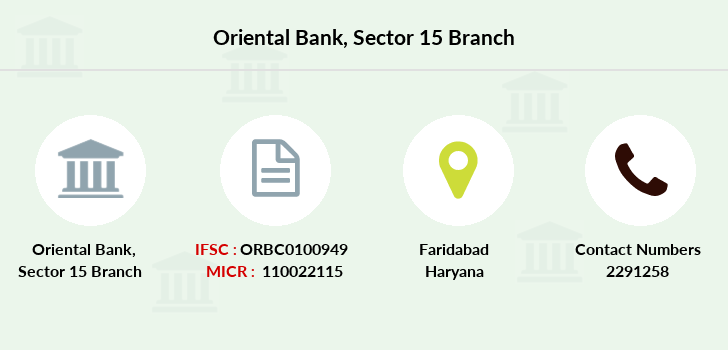 Oriental-bank-of-commerce Sector-15 branch