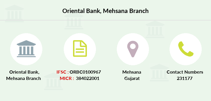 Oriental-bank-of-commerce Mehsana branch