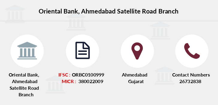 Oriental-bank-of-commerce Ahmedabad-satellite-road branch