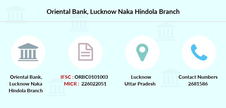 Oriental-bank-of-commerce Lucknow-naka-hindola branch