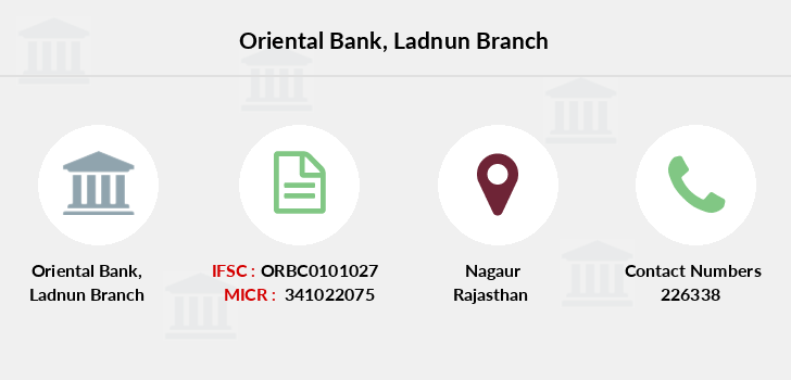 Oriental-bank-of-commerce Ladnun branch