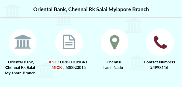 Oriental-bank-of-commerce Chennai-rk-salai-mylapore branch