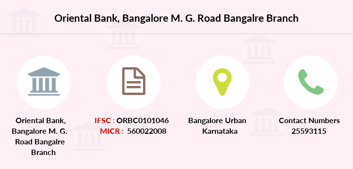 Oriental-bank-of-commerce Bangalore-m-g-road-bangalre branch