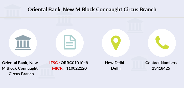 Oriental-bank-of-commerce New-m-block-connaught-circus branch