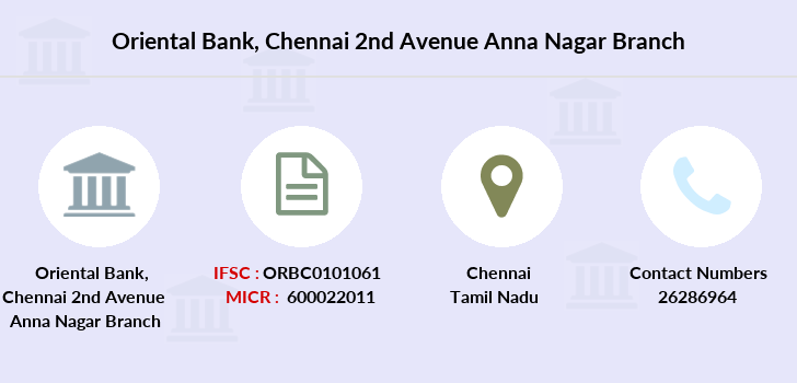 Oriental-bank-of-commerce Chennai-2nd-avenue-anna-nagar branch
