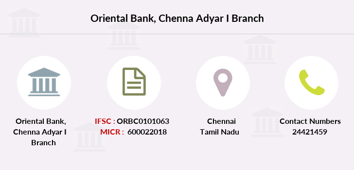 Oriental-bank-of-commerce Chenna-adyar-i branch