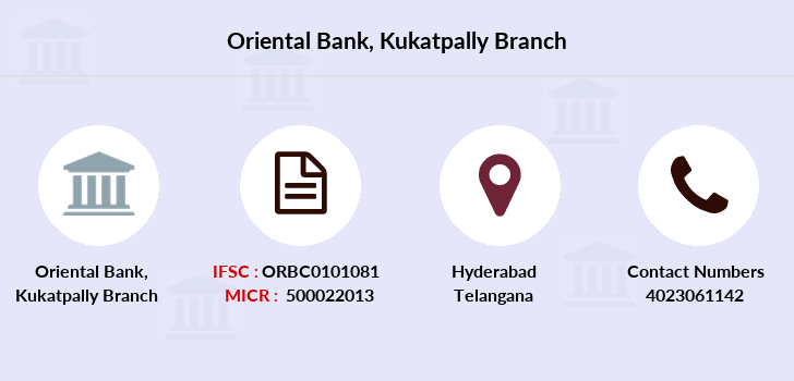 Oriental-bank-of-commerce Kukatpally branch