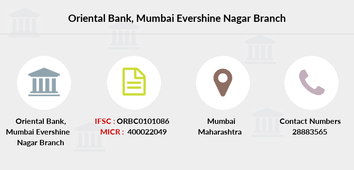 Oriental-bank-of-commerce Mumbai-evershine-nagar branch