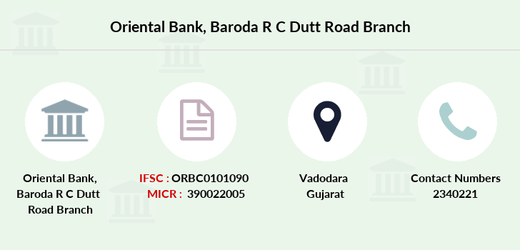 Oriental-bank-of-commerce Baroda-r-c-dutt-road branch