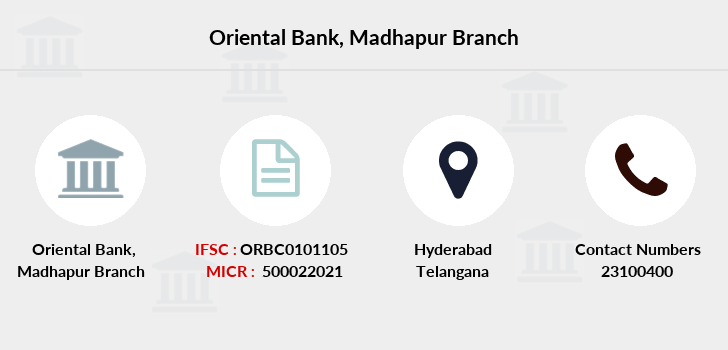 Oriental-bank-of-commerce Madhapur branch