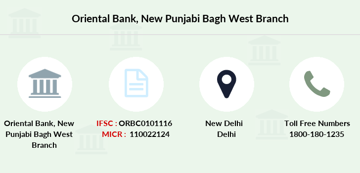 Oriental-bank-of-commerce New-punjabi-bagh-west branch