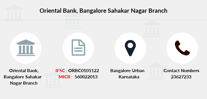 Oriental-bank-of-commerce Bangalore-sahakar-nagar branch