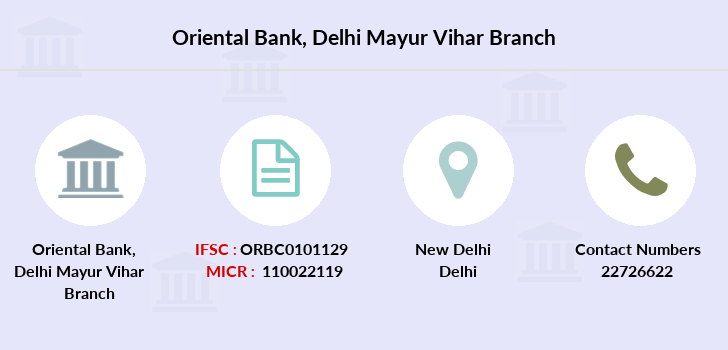 Oriental-bank-of-commerce Delhi-mayur-vihar branch