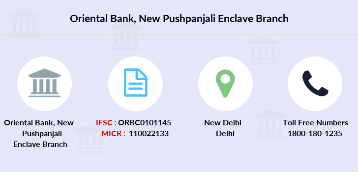 Oriental-bank-of-commerce New-pushpanjali-enclave branch