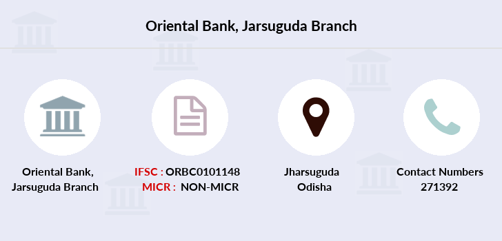 Oriental-bank-of-commerce Jarsuguda branch