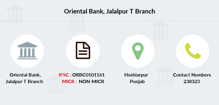 Oriental-bank-of-commerce Jalalpur-t branch
