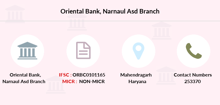 Oriental-bank-of-commerce Narnaul-asd branch