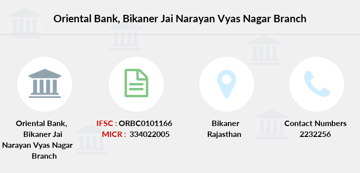 Oriental-bank-of-commerce Bikaner-jai-narayan-vyas-nagar branch