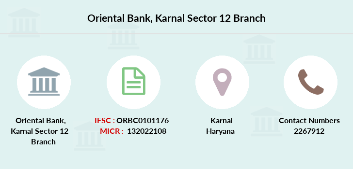 Oriental-bank-of-commerce Karnal-sector-12 branch